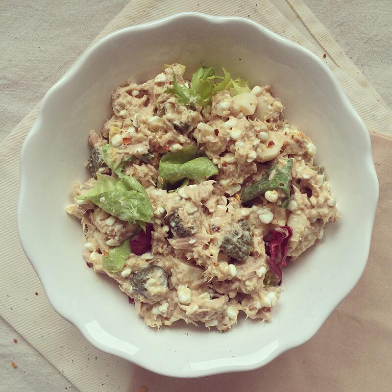 Salade de thon & lentilles vertes aux cacahuètes