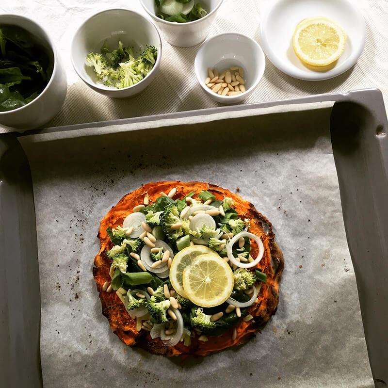 Pizza épinards & brocoli
