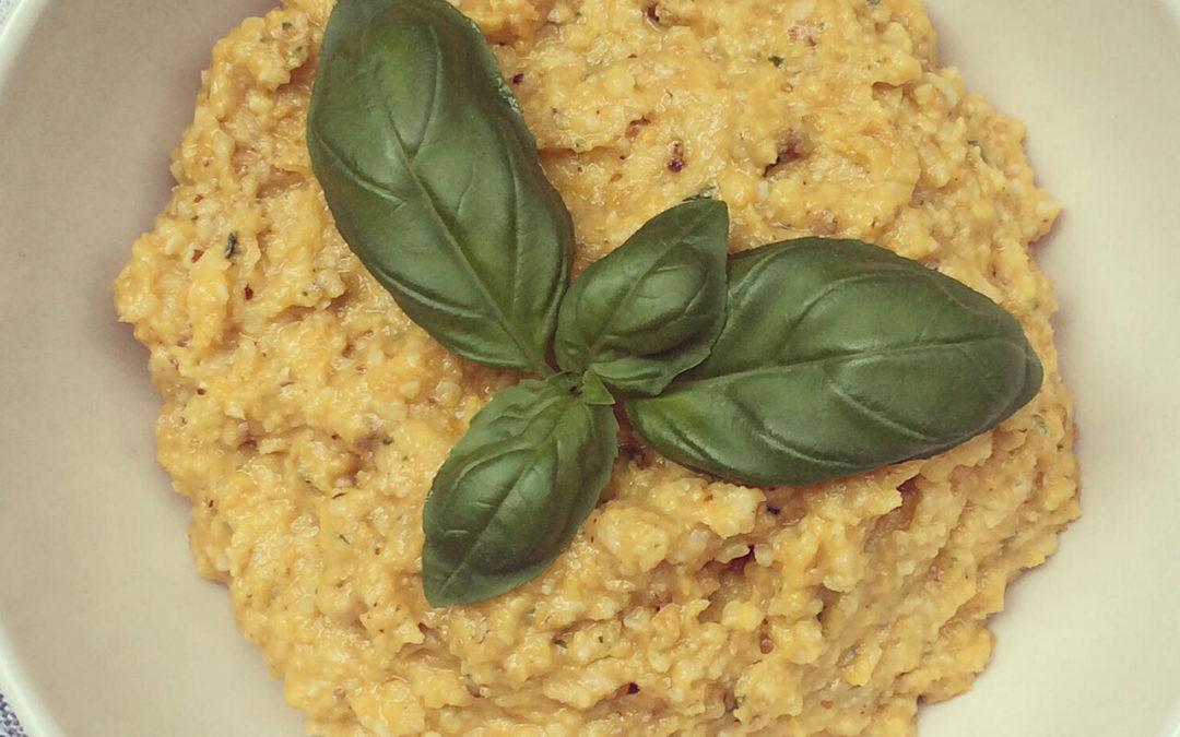 Pesto de courge aux amandes, parmesan & basilic