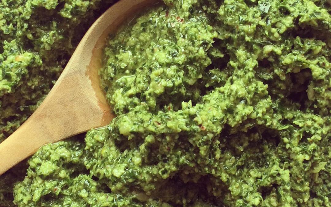 Pesto de kale aux noix