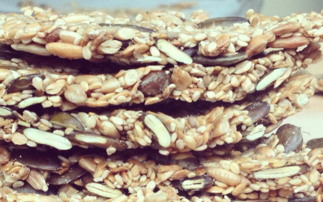 Crackers salés aux graines