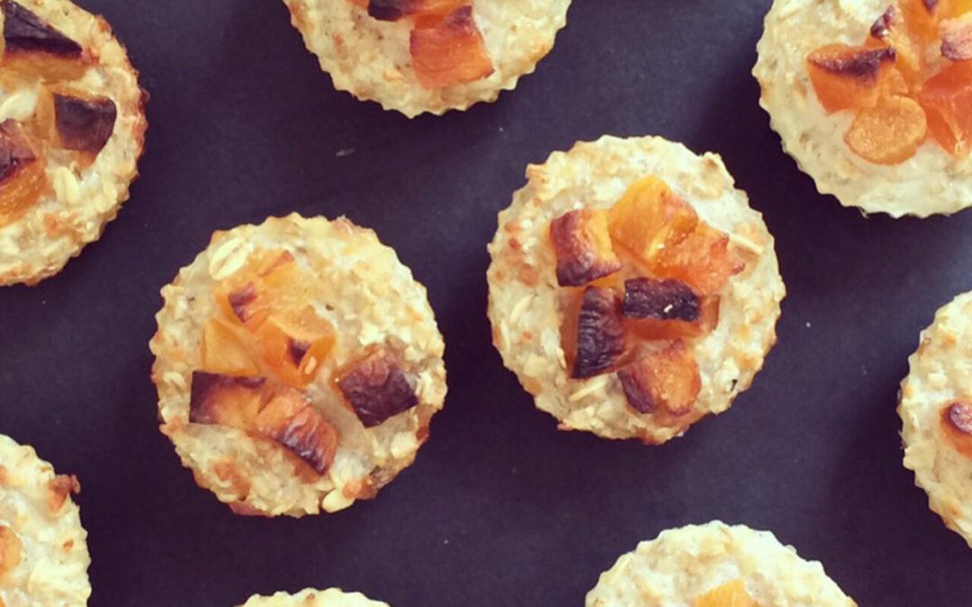Muffins abricots & parmesan aux flocons d'avoine