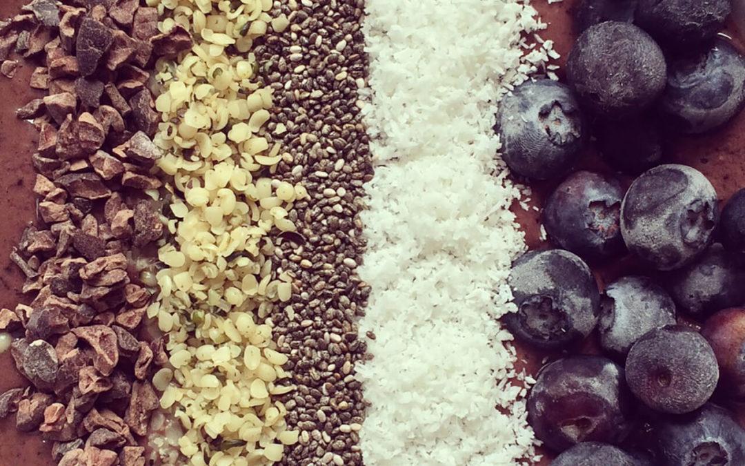Bol d'açai aux myrtilles & cacao