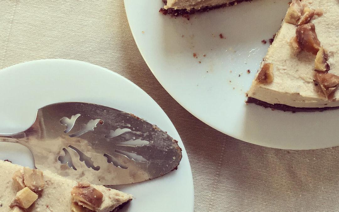 Cheesecake aux marrons végétalien