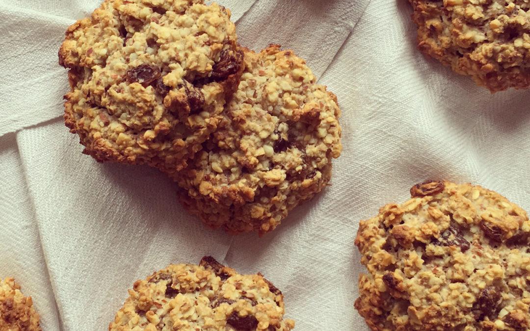 Cookies avoine & amandes aux raisins secs