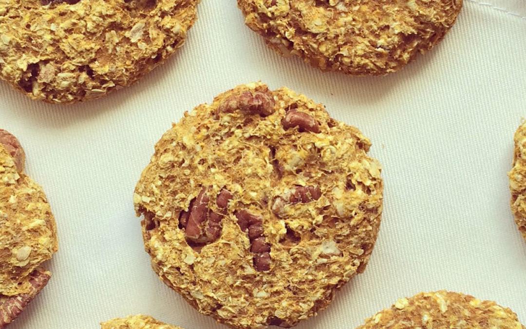 Cookies courge & avoine aux noix de pécan