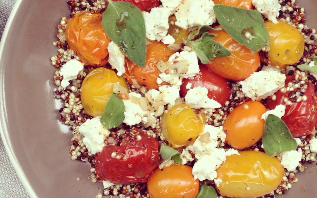 Couscous de quinoa aux tomates cerise & feta