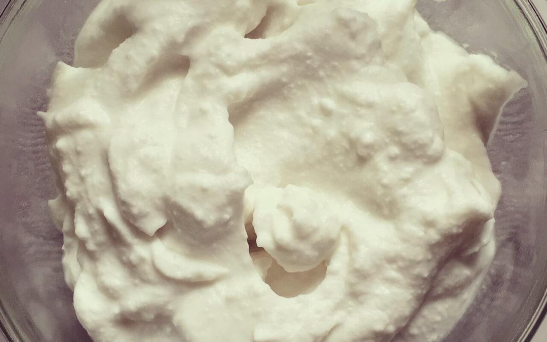 Crème fouettée de coco