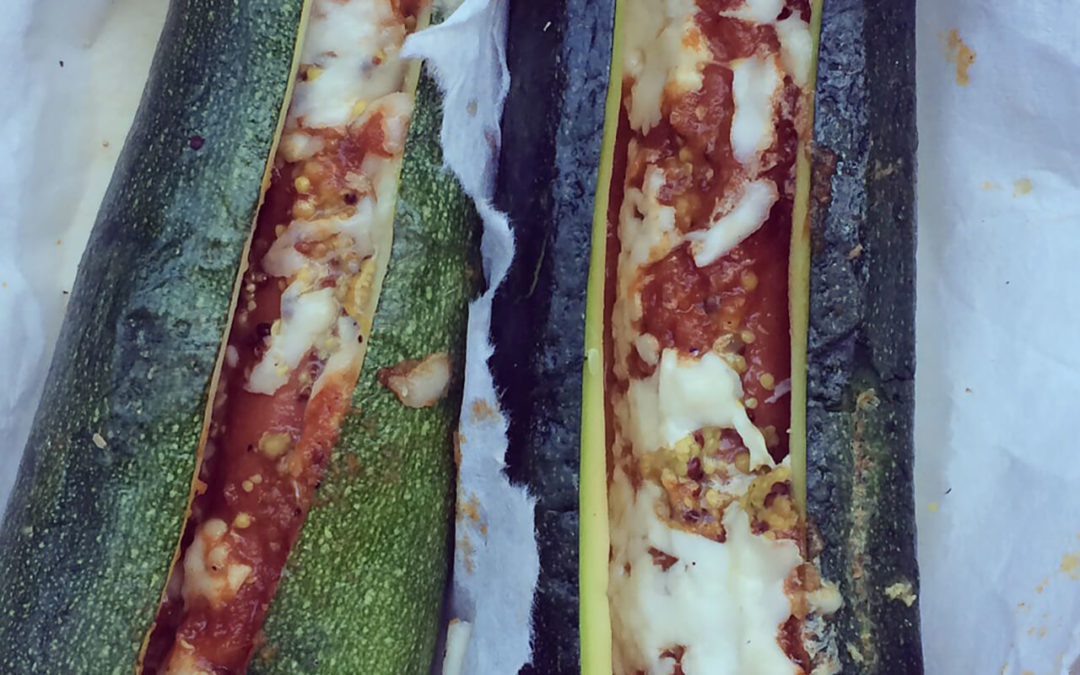 Hot-dogs de courgettes