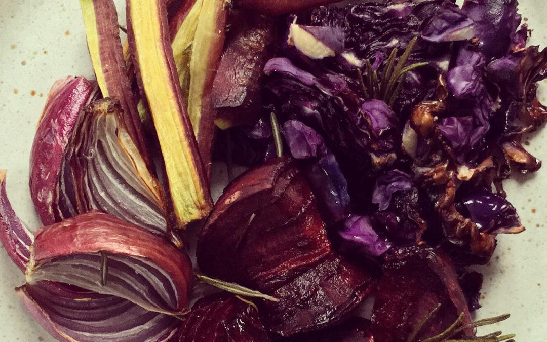 Légumes rôtis au romarin