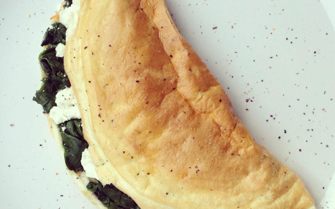 Omelette soufflée épinards & feta