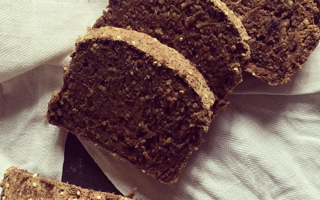 Pain aux champignons & quinoa sans gluten