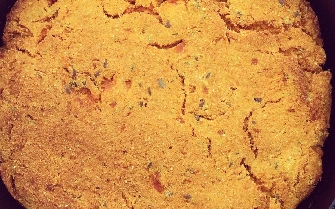 Pain de maïs & patate douce à la poêle