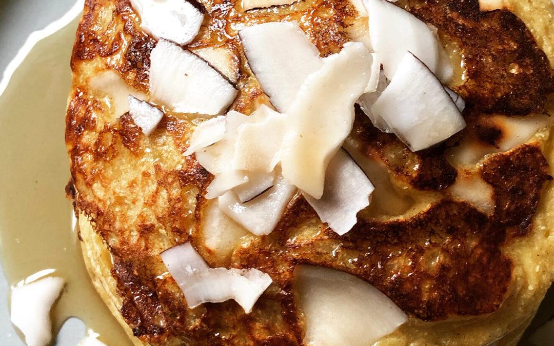 Pancakes aux pommes de terre & noix de coco