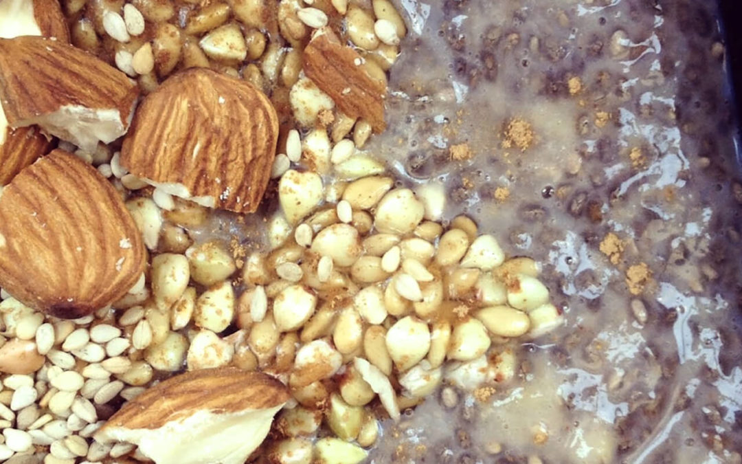 Porridge de chia & banane aux graines