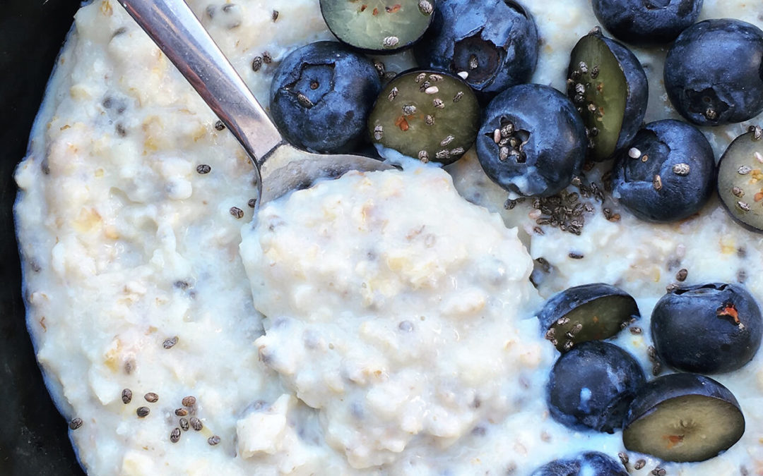 Porridge protéiné au chou-fleur