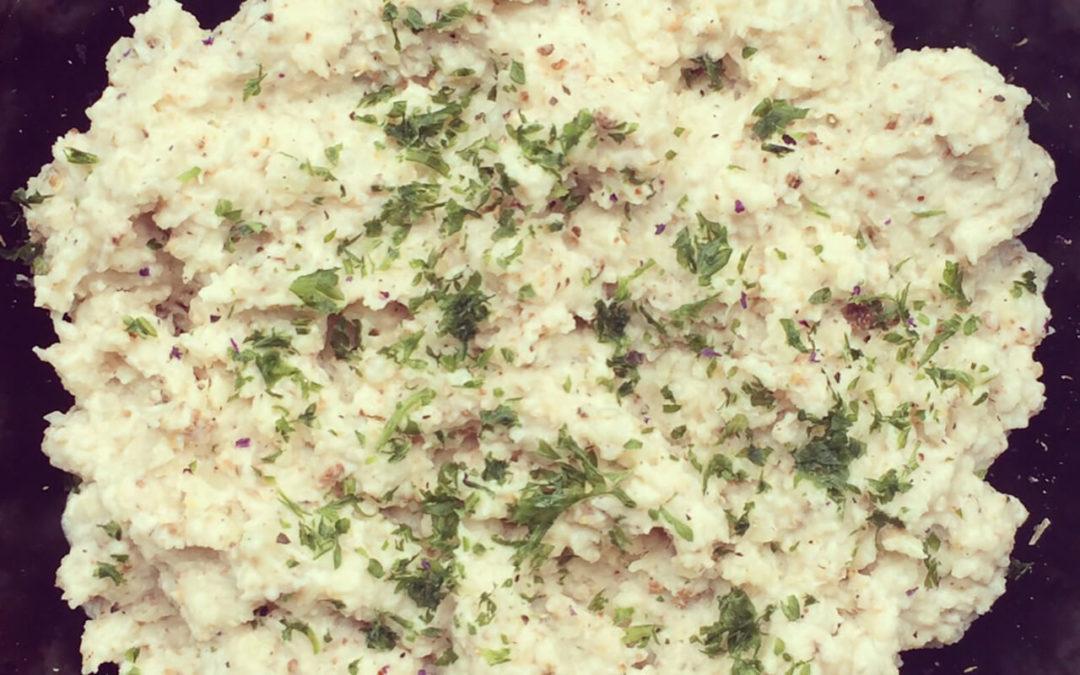 Purée de chou-fleur rôti au yaourt grec