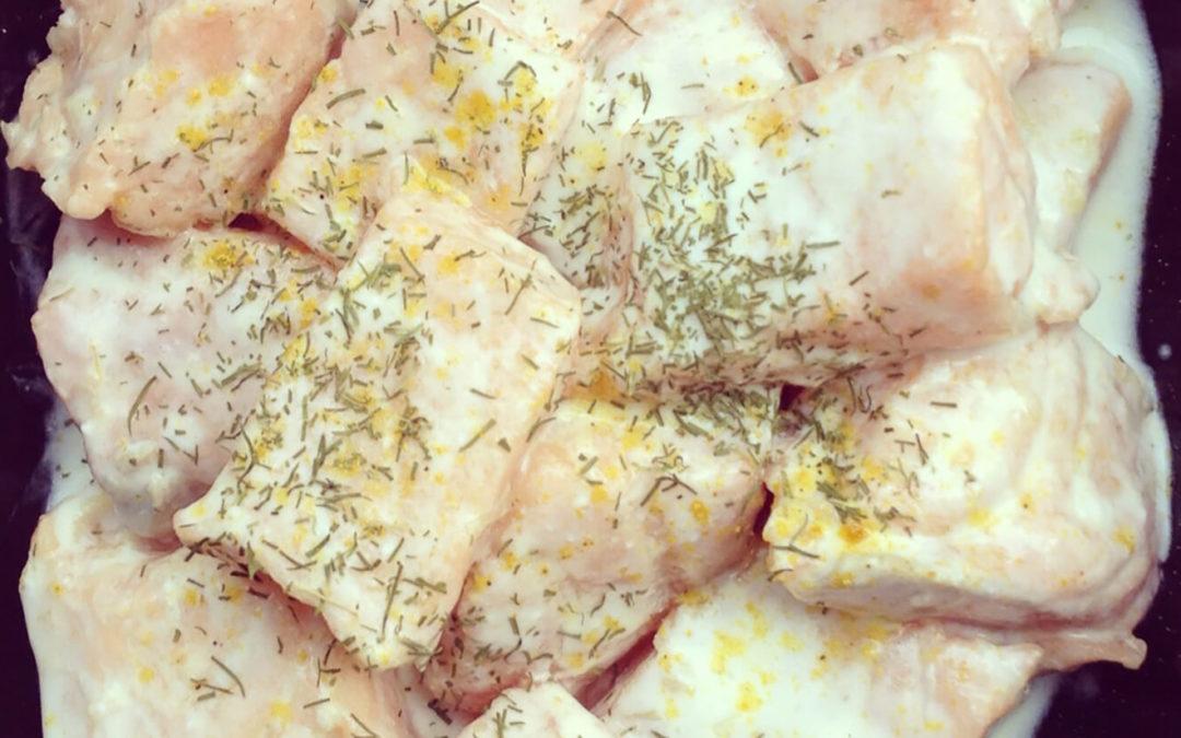 Saumon mariné au lait de coco