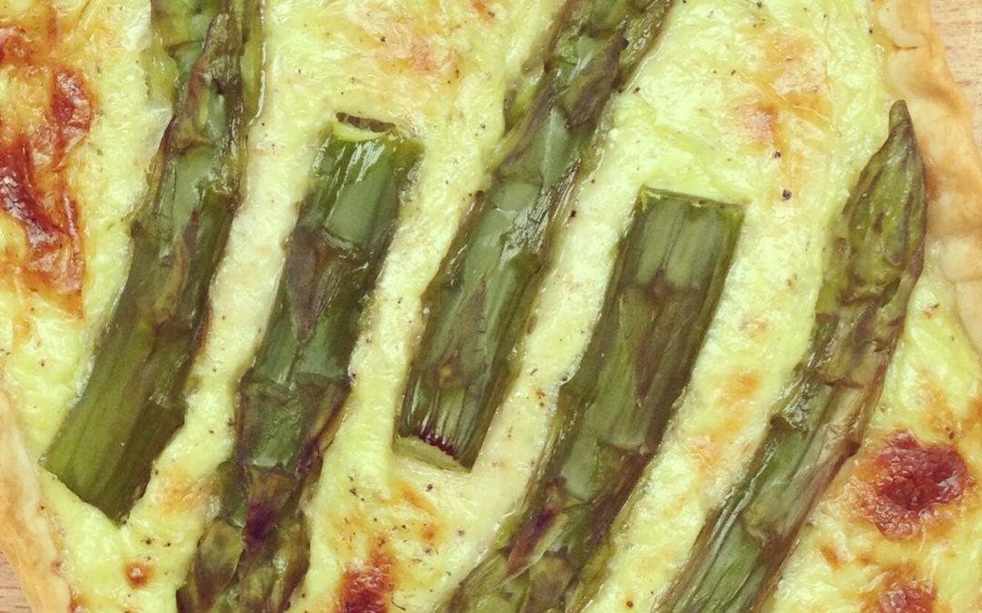 Tarte aux asperges & parmesan