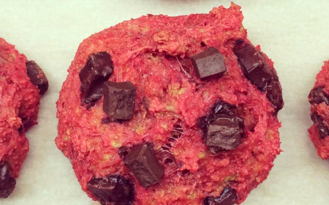 Cookies betterave & pépites de chocolat