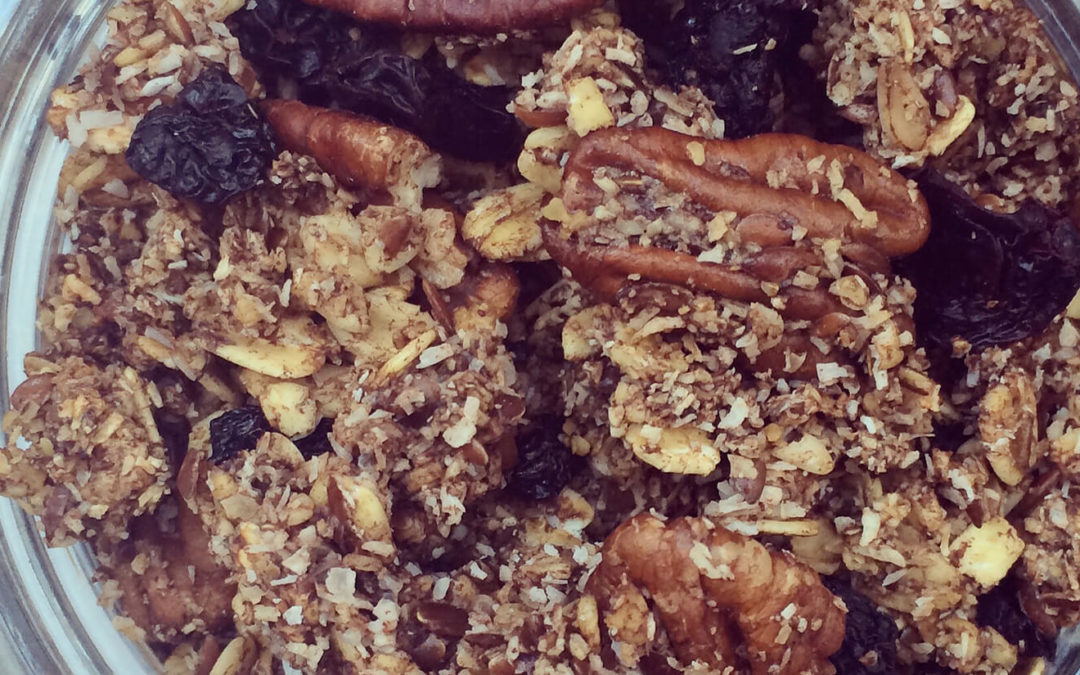 Granola coco & cerises au cacao