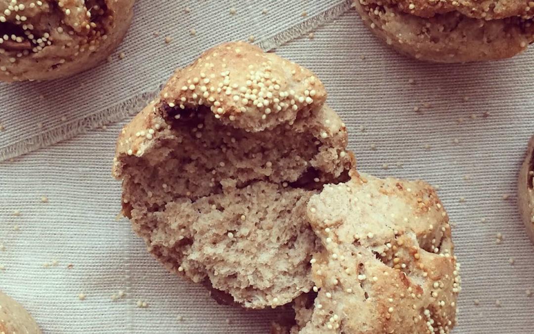 Petits pains aux figues séchées & graines d'amarante