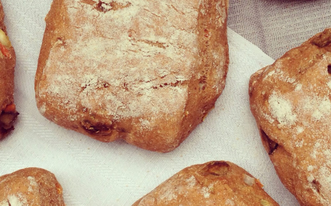 Petits pains complets aux légumes