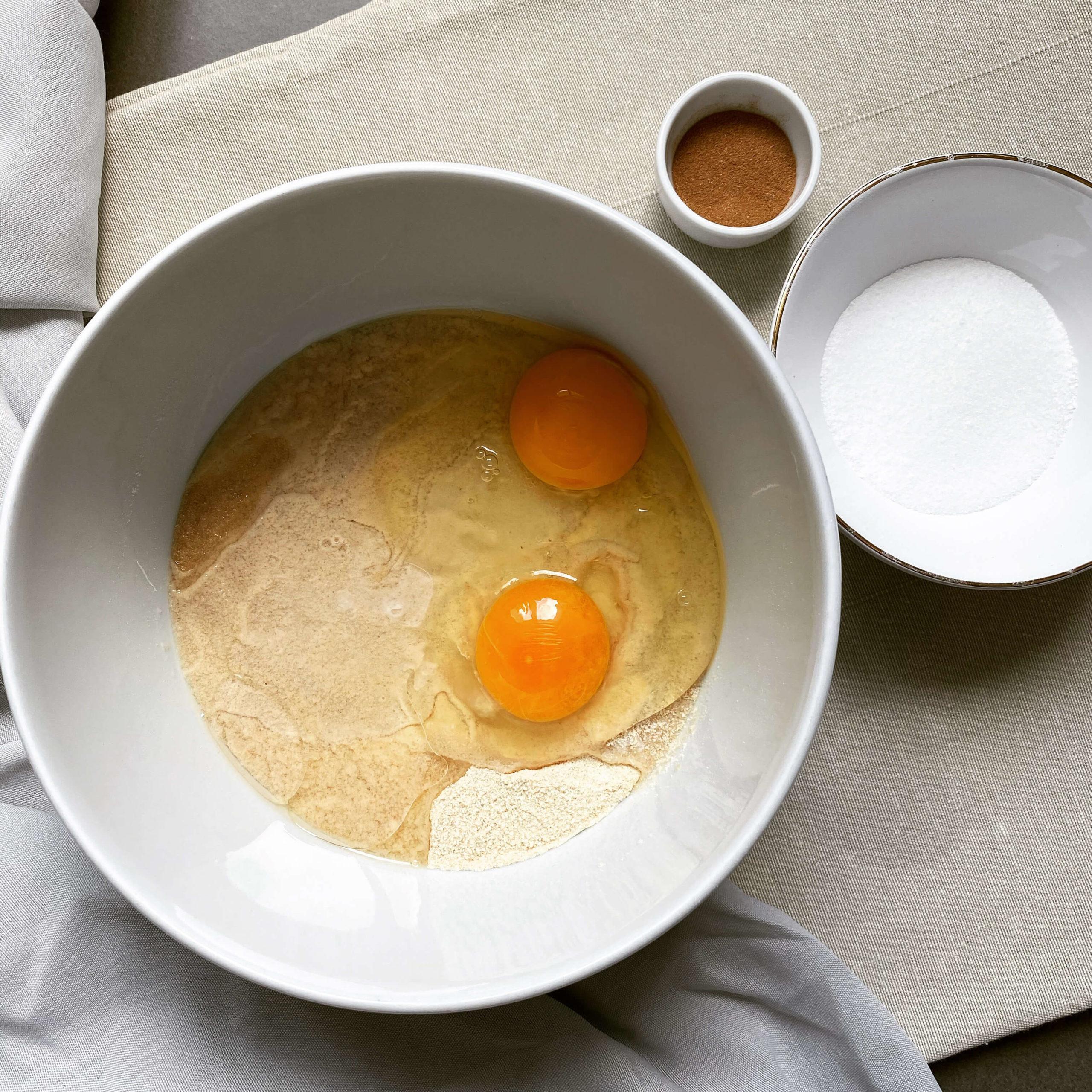 Porridge de chou-fleur aux raisins secs & aux noix