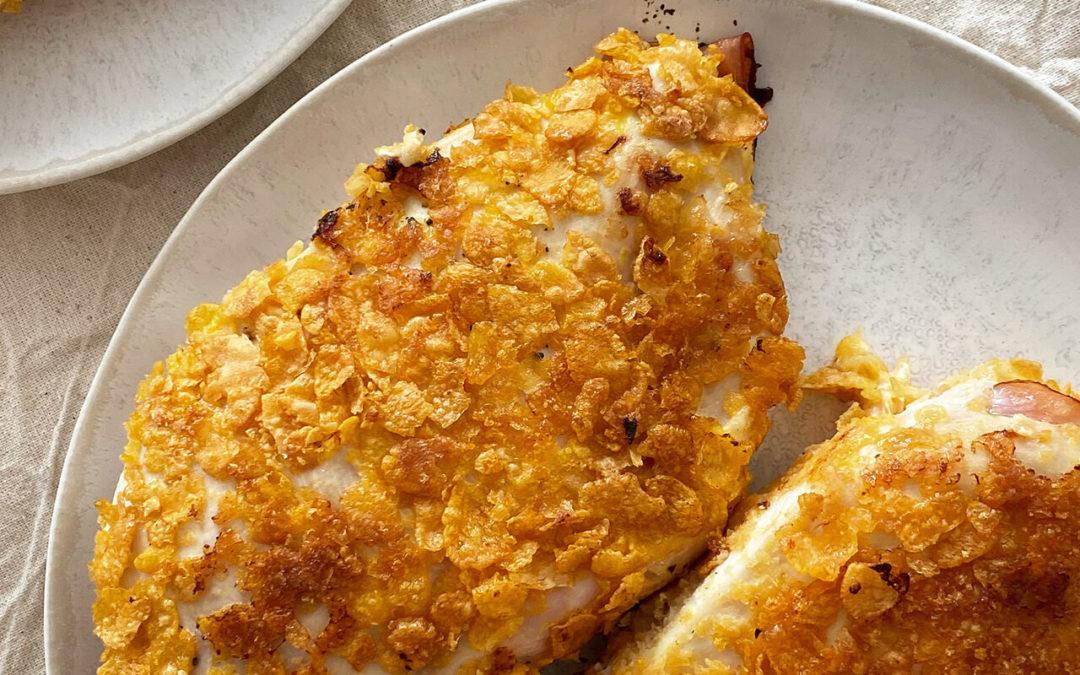 Cordons bleus de poulet aux cornflakes